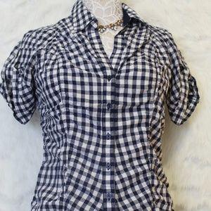 Checkered Pattern Button Down Shirt